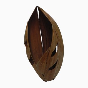 Vintage Table Lamp Made from Banana Leaves, 1960s
