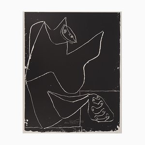 Vintage Dancer and Hands Lithograph by Le Corbusier