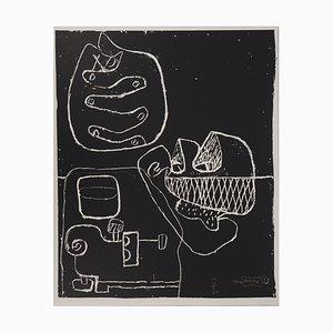 Litografia vintage con mani e conchiglie di Le Corbusier