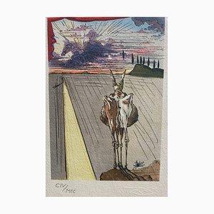 Lithographie A Woman Vu from Outside après Salvador Dali, 1979