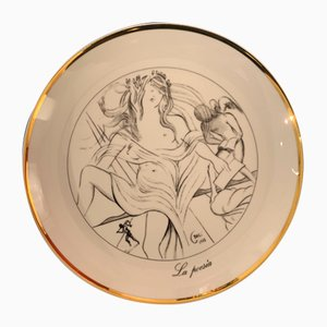 Porcelaine La Poesia the Seven Arts Vintage après Salvador Dali, 1980s