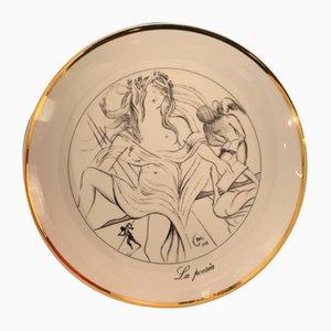 Vintage Porzellan La Poesia the Seven Arts nach Salvador Dali, 1980er