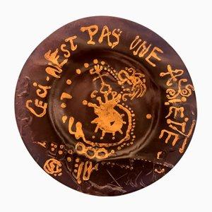 Vintage Dies ist kein Teller nach Salvador Dali, 1970