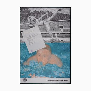 Los Angeles Olympic Games Offset Lithograph by Jennifer Bartlett, 1984