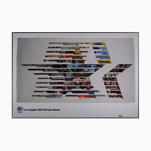 Los Angeles Olympic Games Offset Lithograph by Robert Rauschenberg, 1984