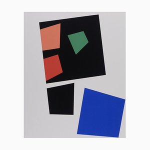 Construction According to the Laws of Chance Screenprint by Jean Arp, 1918