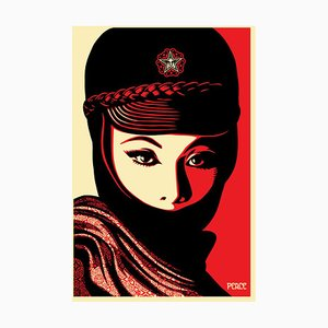 Litografia Mujer Fatale di Shepard Fairey
