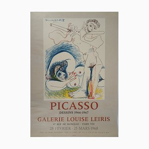 Vintage the Flute Player Lithograph after Pablo Picasso