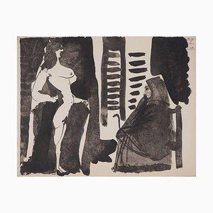 Lithographie de the Lover of the Toreador Vintage d'après Pablo Picasso