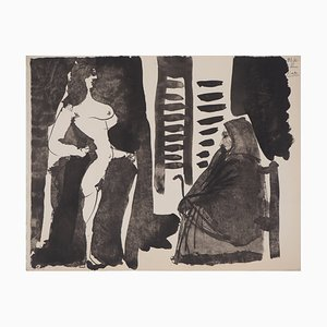Vintage the Lover of the Toreador Lithograph after Pablo Picasso
