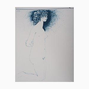 Lithographie Kneeling Nude Vintage d'après Pablo Picasso
