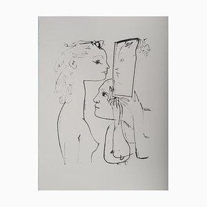 Lithographie Vintage Through The Looking-Glass par Pablo Picasso