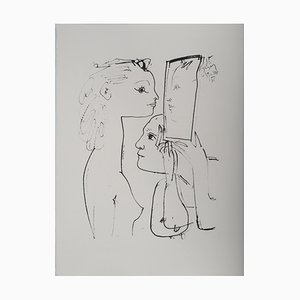 Through the Looking-Glass Lithograph after Pablo Picasso
