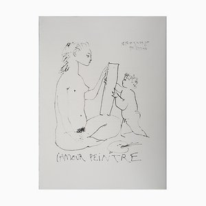 The Painter Love Lithographie nach Pablo Picasso, 1974