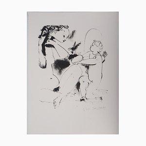 Lithographie Woman and Cupid Vintage, d'après Pablo Picasso