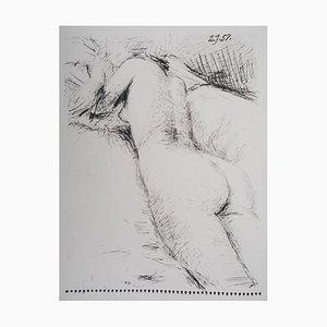 Litografía Nude vintage de Behind después de Pablo Picasso