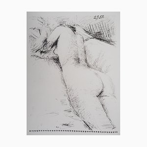 Vintage Nude from Behind Lithograph after Pablo Picasso