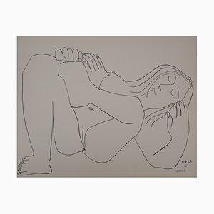 Lithographie Nue au repos d'après Pablo Picasso