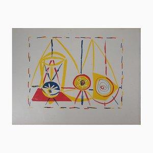 Composition Cubiste Glas Lithographie von Pablo Picasso, 1946