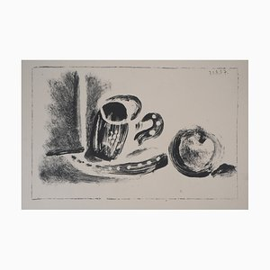 Cup and Apple Lithograph by Pablo Picasso, 1947