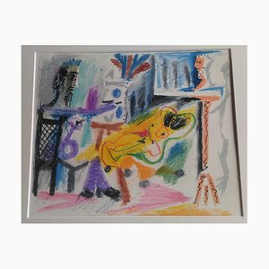 Vintage the Painter and His Model Lithographie nach Pablo Picasso