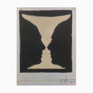 Litografia Cup Two Picasso Profiles di Jasper Johns, 1973