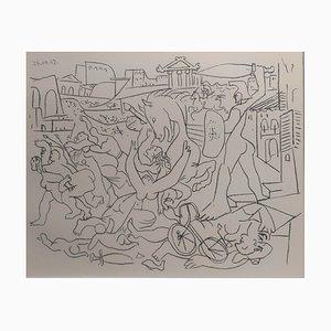 Lithographie Rape of the Sabines Vintage d'après Pablo Picasso