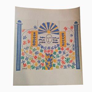 Lithographie Appolo d'après Henri Matisse, 1969