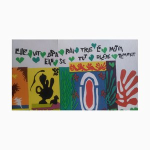 Triptych Lithograph after Henri Matisse, 1969