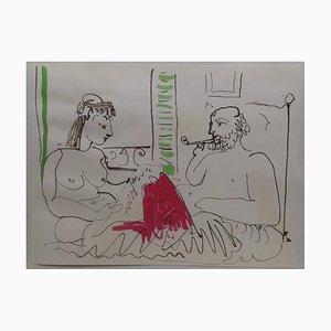 Litografía sin título de Pablo Picasso, 1966