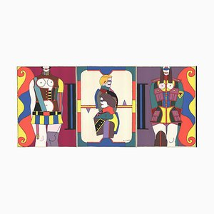 Changing Sexuality Triptych Silk Screen by Richard Lindner, 1973