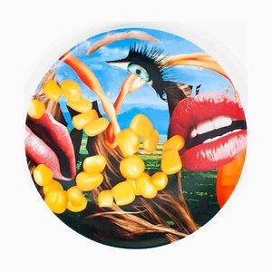 Lippen Keramikplatte nach Jeff Koons, 2012