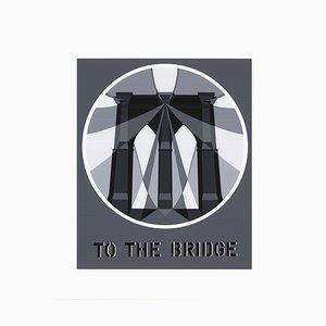 To the Bridge Pont de Brooklyn Silk Screen by Robert Indiana, 1997