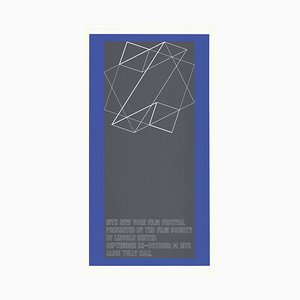 The 10th New York Film Festival Silk Screen by Josef Albers, 1972