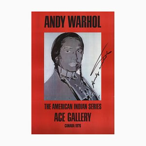 American Indian Red Offset Lithograph by Andy Warhol, 1977