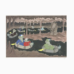 Cave of the Mammoth Silk Screen von Jean de Brunhoff, 1994