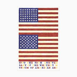 50th Anniversary of the Whitney Museum of American Art Lithografie von Jasper Johns, 1979
