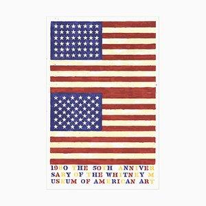 Litografía The 50th Anniversary of the American Museum de arte estadounidense de Jasper Johns, 1979