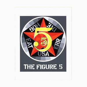 Sérigraphie The Figure Five par Robert Indiana, 1997
