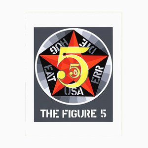 The Figure Five Serigraph by Robert Indiana, 1997