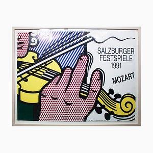 Salzburg Festival Offset Lithographie von Roy Lichtenstein, 1991