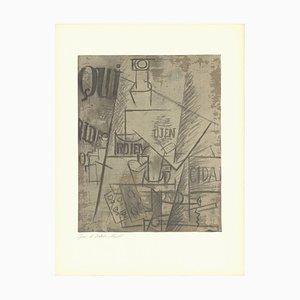 Papierleim Lithographie nach Pablo Picasso, 1966