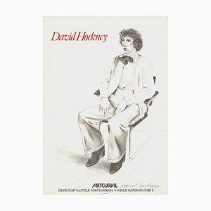 Lithographie Artcurial Gregory Evans par David Hockney, 1979