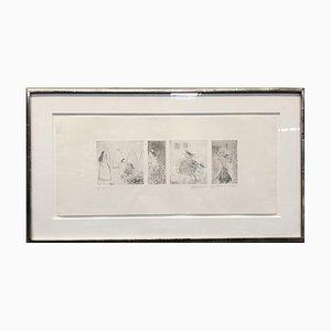 Étude pour Gravure à l'Eau-Forte Rumpelstiltskin par David Hockney, 1961