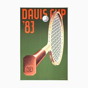Davis Cup Lithograph by Konrad Klapheck, 1983