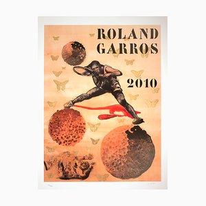 Roland Garros French Open Offset Lithographie von Nalini Malani, 2010