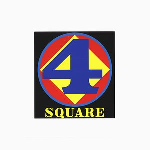 Polygon Square Number 4 Silk Screen by Robert Indiana, 1997