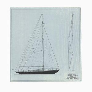 Modularer Segelplan Nr. 125 von Sparkman & Stephens, 1947