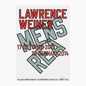 Mens Rea Offset Lithograph by Lawrence Weiner, 2013