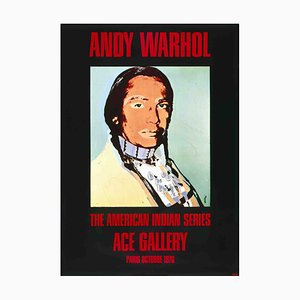 American Indian Black Offset Lithograph by Andy Warhol, 1976